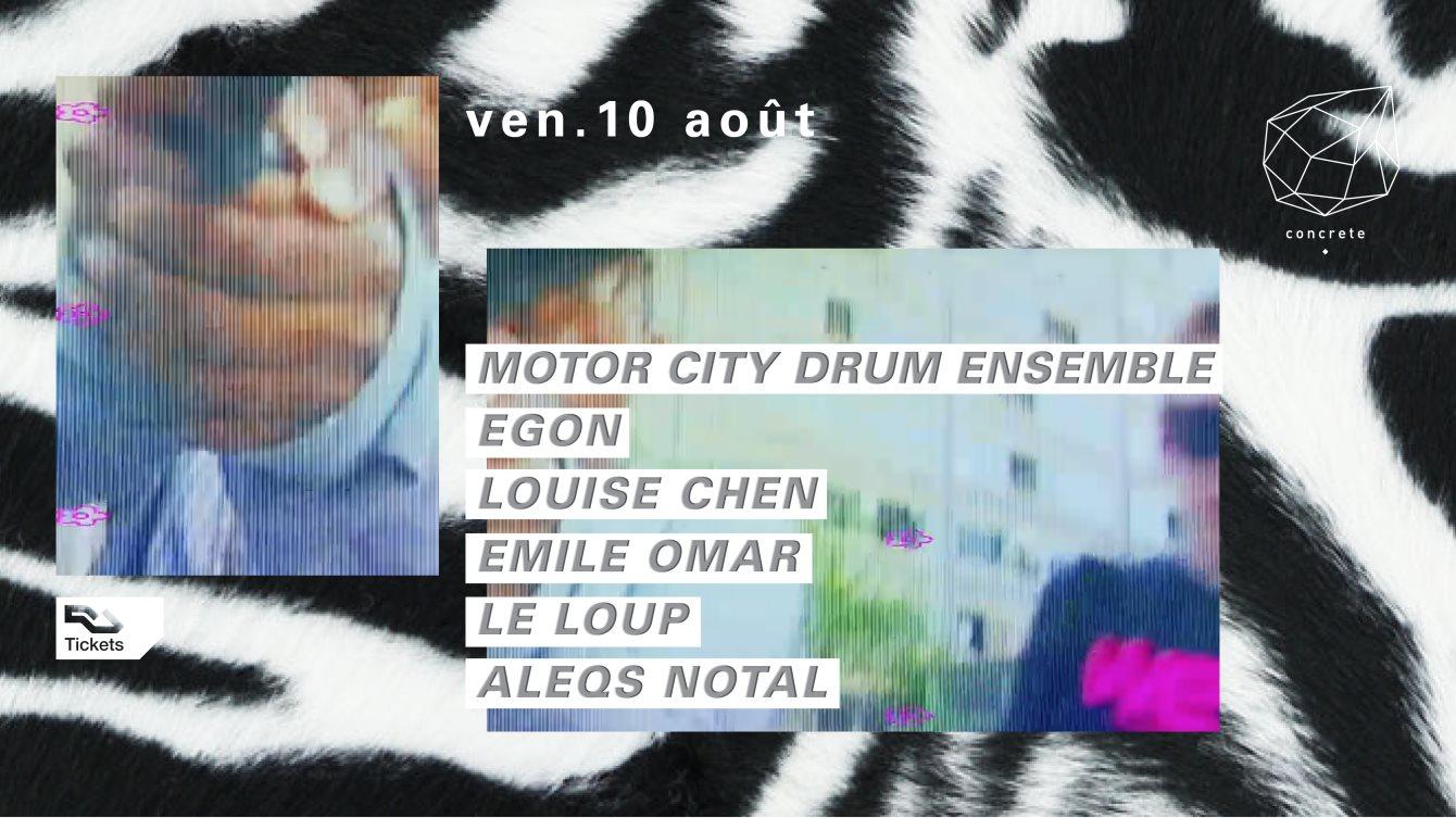 Concrete: Motor City Drum Ensemble, Egon, Louise Chen Emile Omar, Le Loup - Flyer front