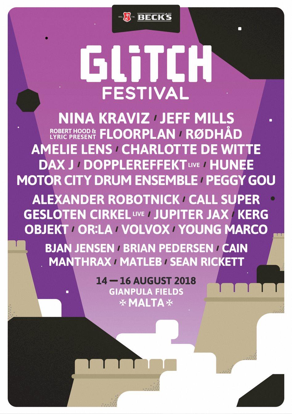 Glitch Festival 2018 - Flyer back