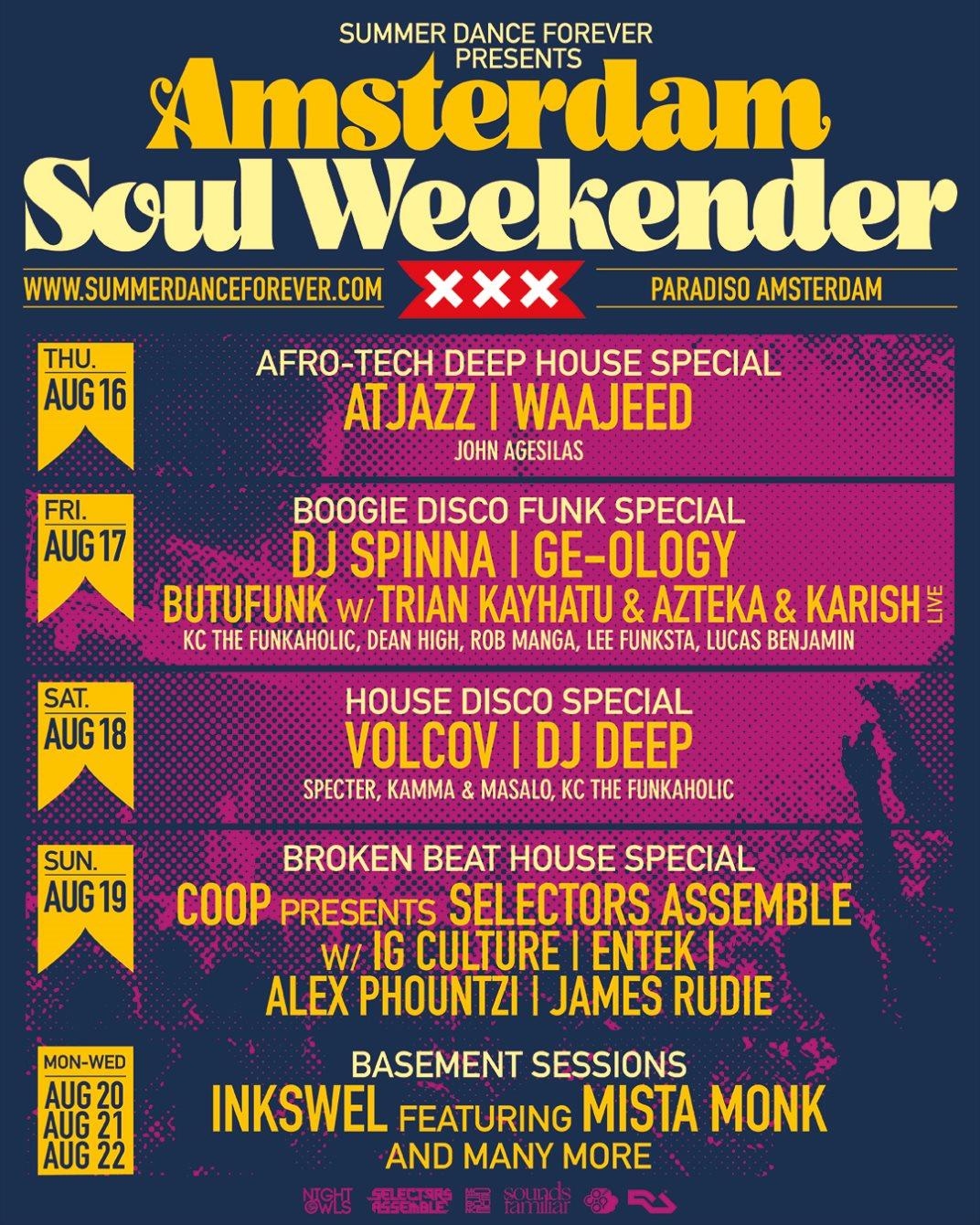 Amsterdam Soul Weekender - Flyer front