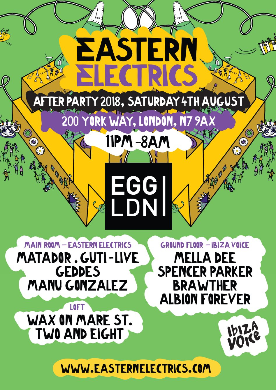 Eastern Electrics Official Afterparty: Matador, Guti, Mella Dee, Spencer Parker, Brawther - Flyer front