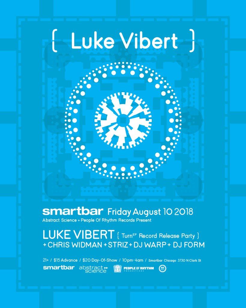 Abstract Science + People of Rhythm Records Welcome Luke Vibert / Chris Widman / Striz - Flyer back
