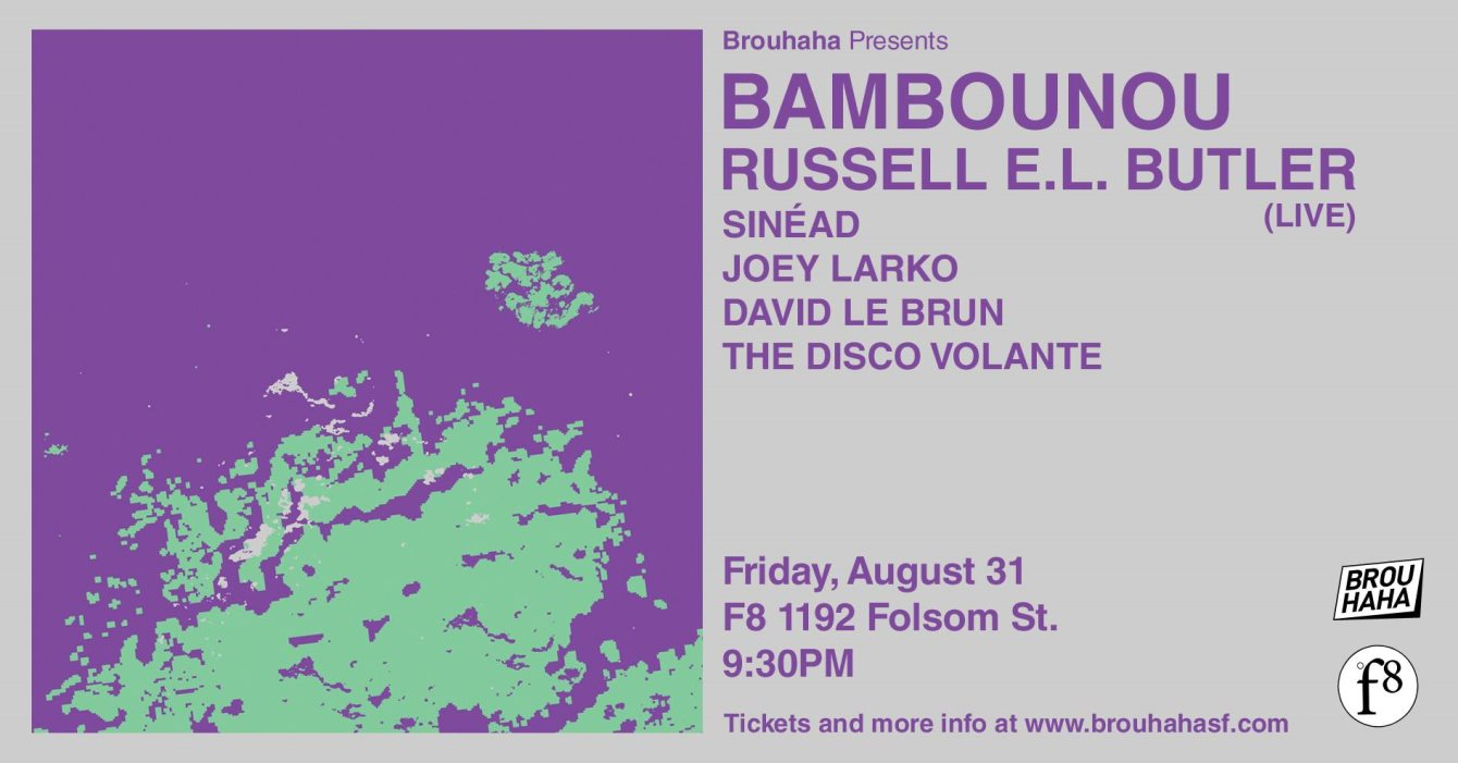 Brouhaha with Bambounou, Russell E.L. Butler, Sinéad - Flyer back