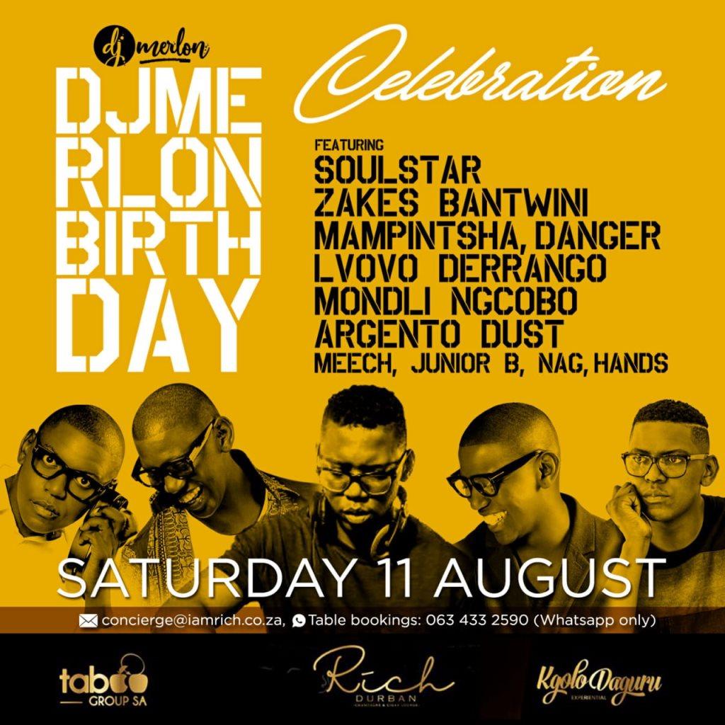 Dj Merlon Birthday Celebration - Flyer front