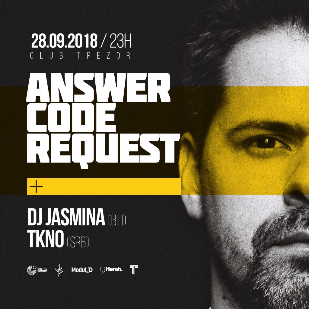 Decibel: Answer Code Request - Flyer front