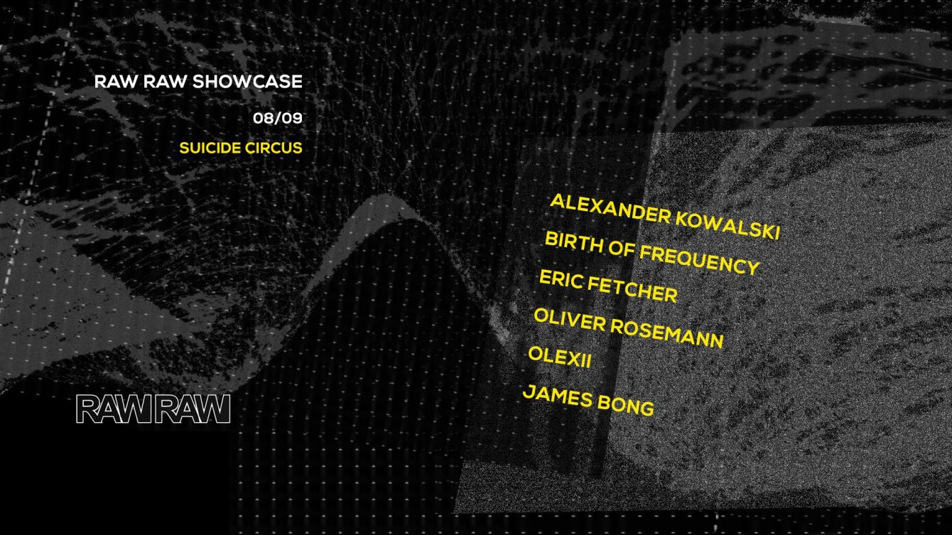 Raw Raw Records Showcase - Flyer front
