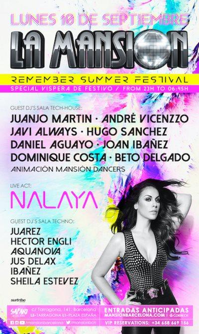 La Mansion Remember Summer Festival - Flyer front
