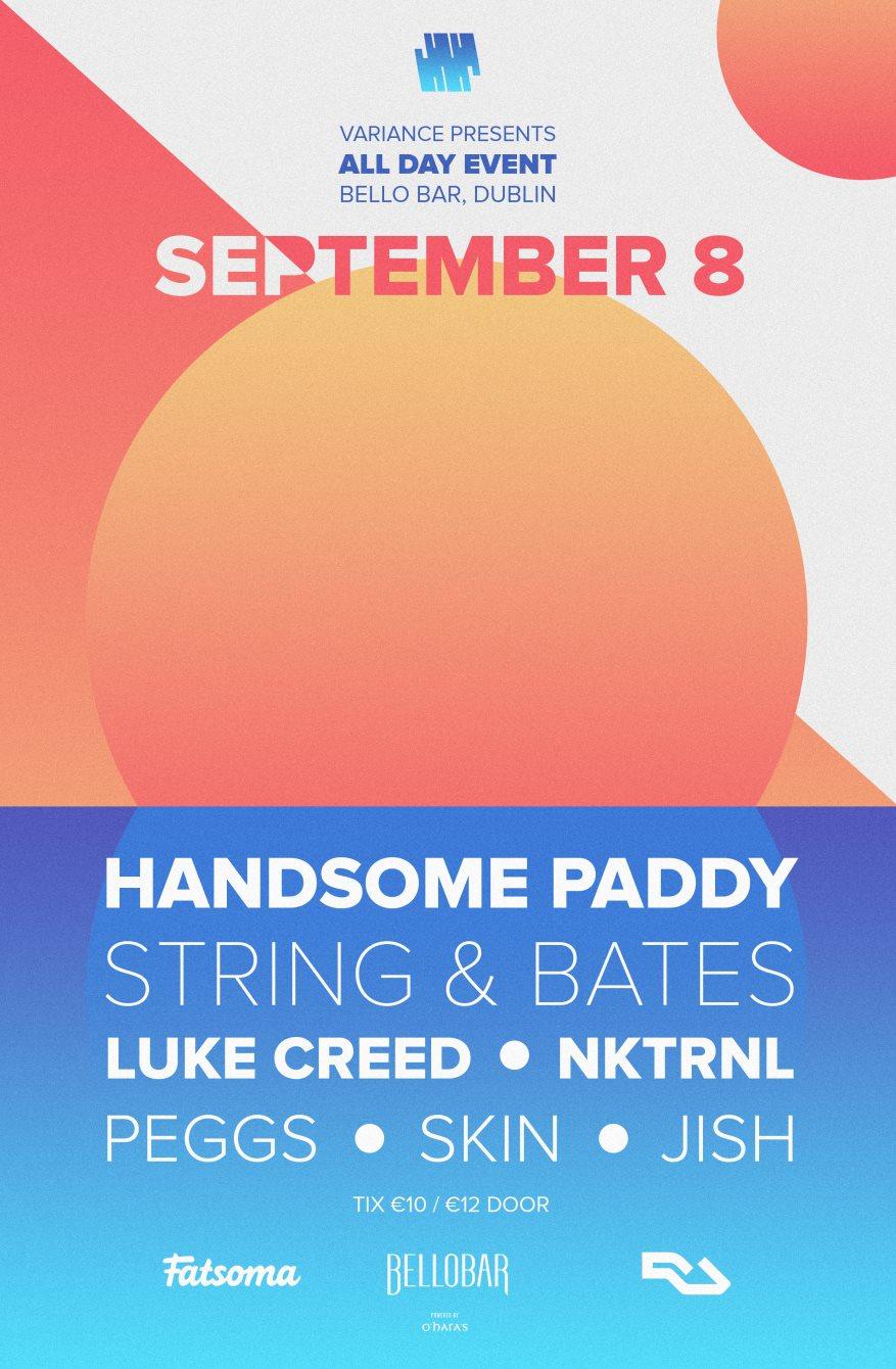 Variance Pres: Day Event, Portabello, Dublin 8 - Flyer front