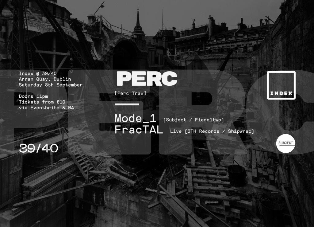 Perc, Mode_1 & Fractal - Live - Flyer front