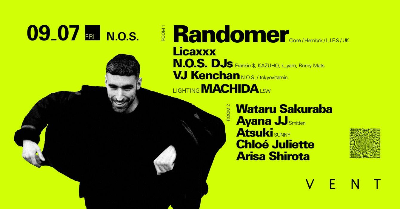 Randomer at N.O.S. - Flyer front