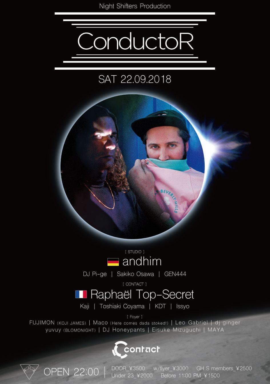 Conductor Feat. Andhim, Raphaël Top-Secret - Flyer front