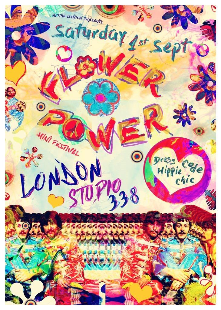 Flower Power London Mini Festival - Flyer front