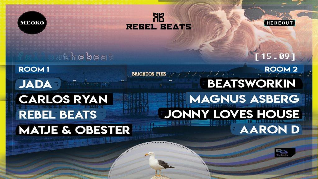 MEOKO x Rebel Beats: Blackout Summer Closing - Flyer front