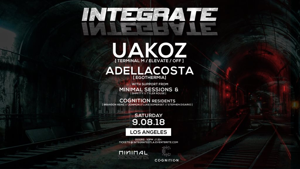 Integrate with Uakoz [Minimal Sessions x Cognition] - Flyer front