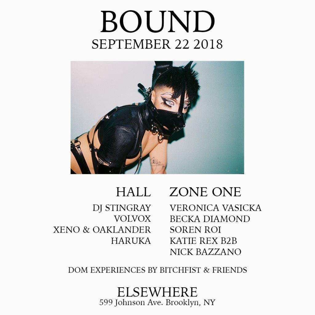 Bound with DJ Stingray, Volvox, Veronica Vasicka, Xeno & Oaklander, Becka Diamond & More - Flyer back