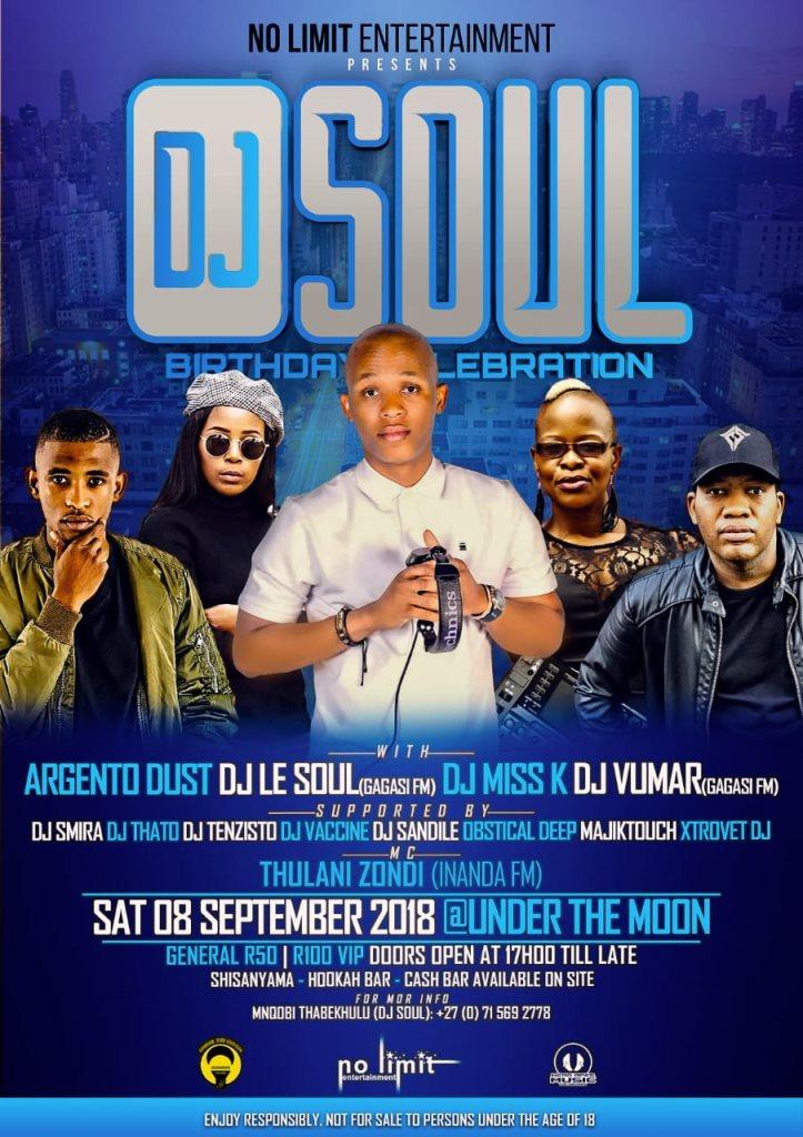 DJ Soul Birthday Celebration - Flyer front