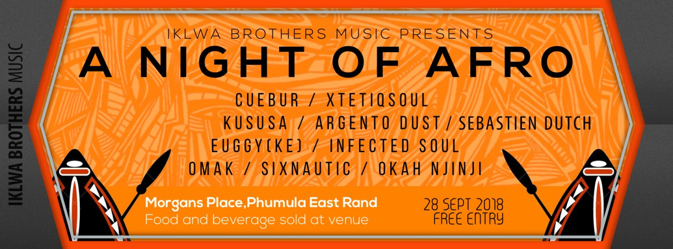 Iklwa Brothers Music presents 'A Night Of Afro' - Flyer back