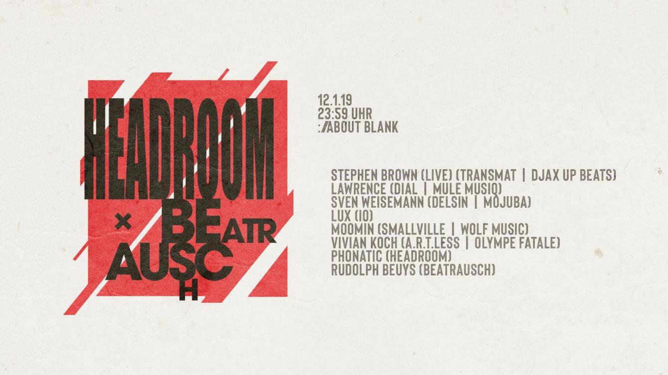 Headroom X Beatrausch - Flyer front