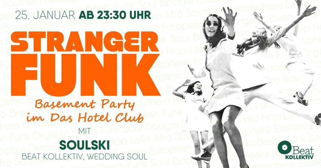 Stranger Funk Basement Party - Flyer front