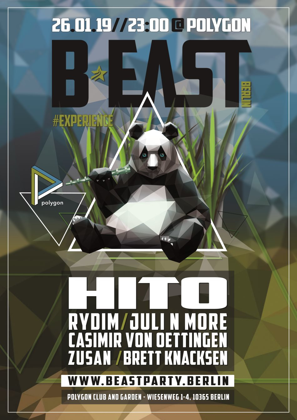 B:EAST BERLIN - Experience with Hito - Flyer back