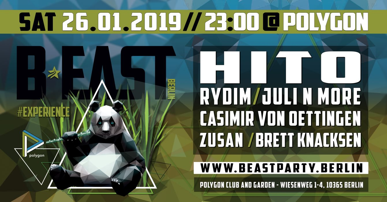 B:EAST BERLIN - Experience with Hito - Flyer front