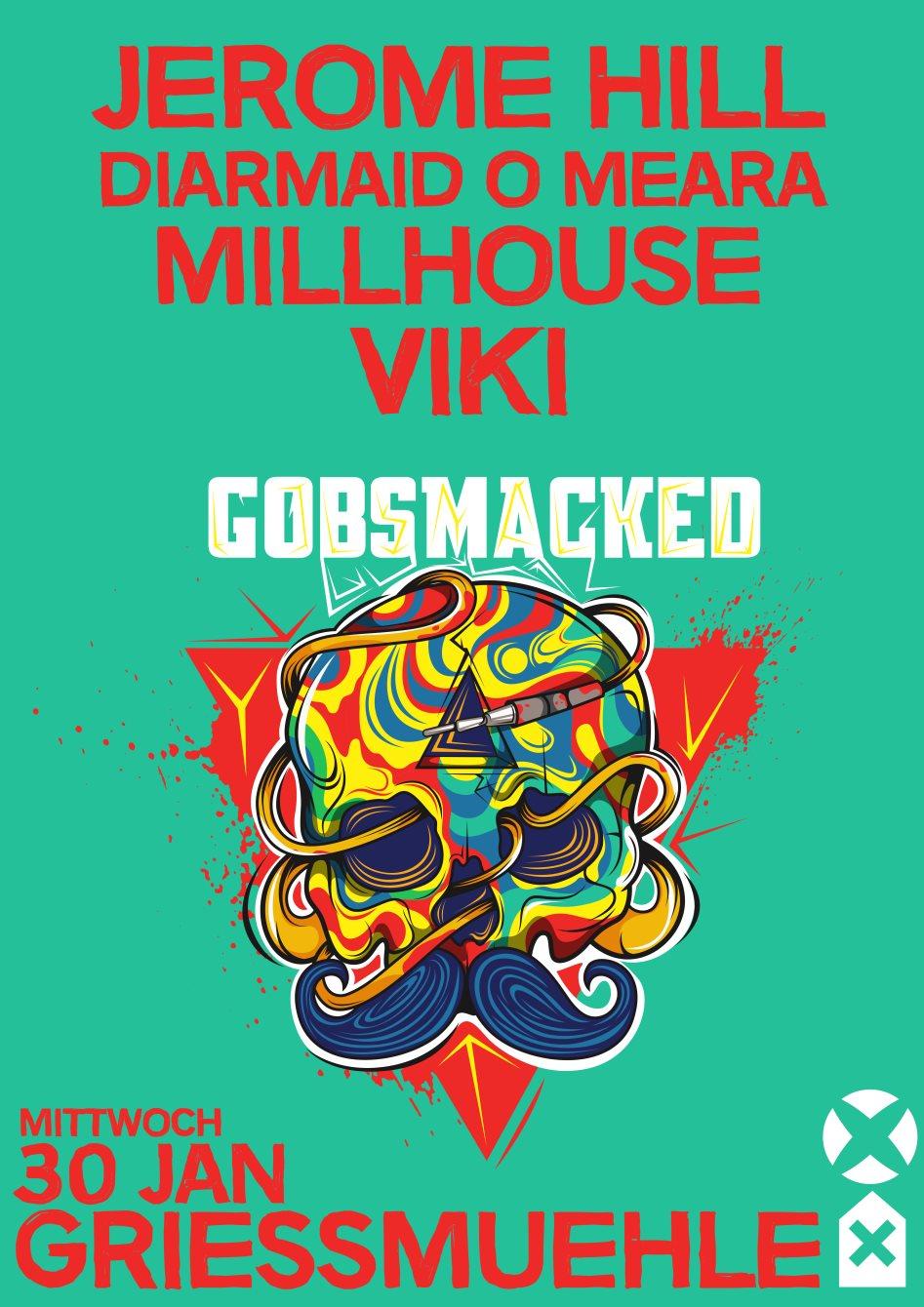 Gobsmacked with Jerome Hill, Diarmaid O Meara uvm. - Flyer back