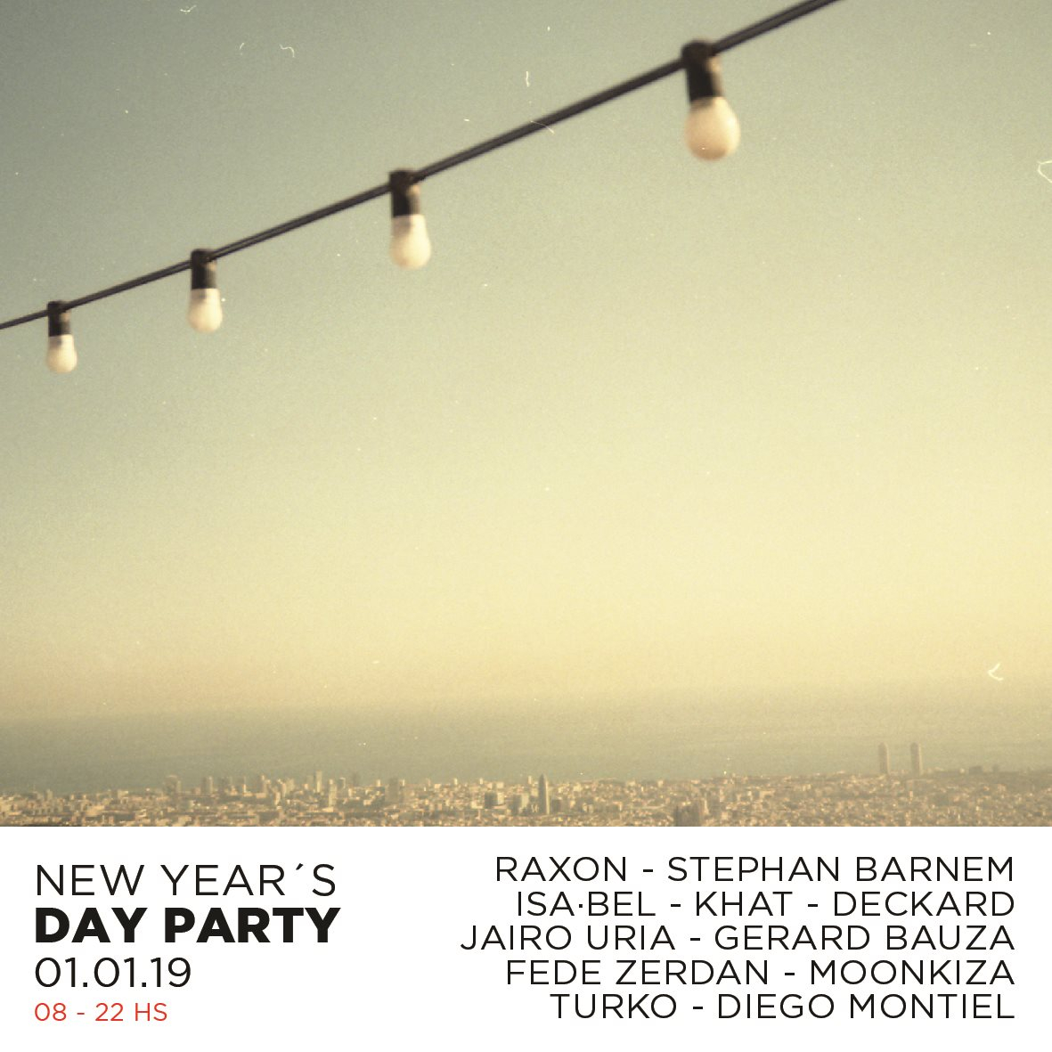New Year's Day Party - Flyer back