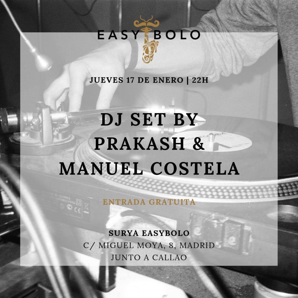 Manuel Costela & Prakash - Flyer front