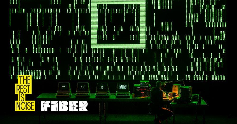 FIBER x The Rest is Noise: Robert Henke + Nkisi & Charlie Hope - Flyer front
