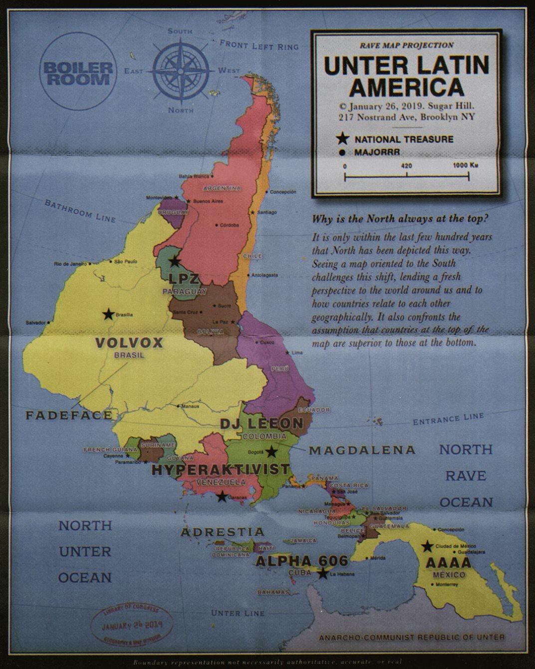 Unter Latin America x Boiler Room - Flyer front