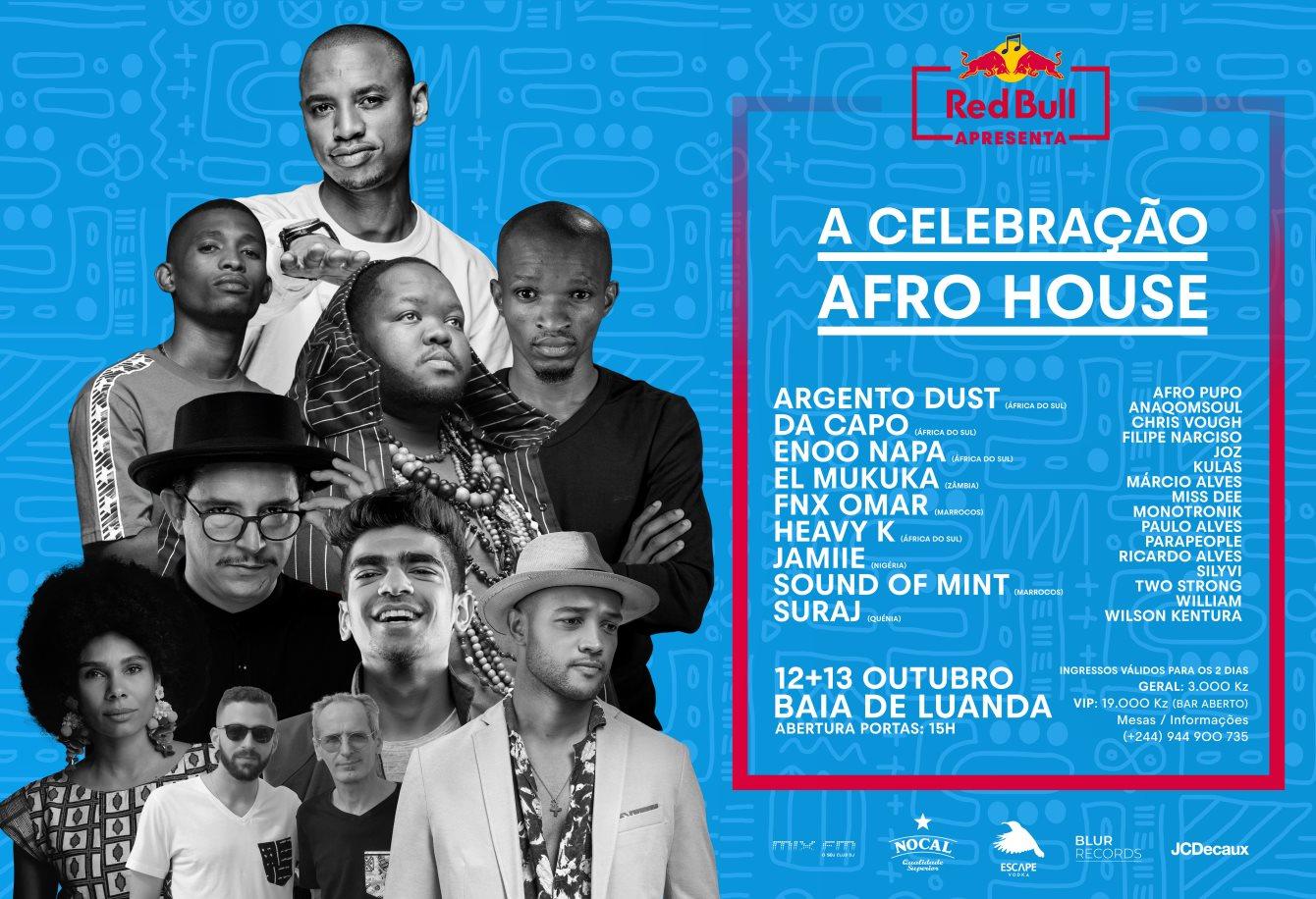 Redbull Apresenta: Celebração Afro-House - Flyer front