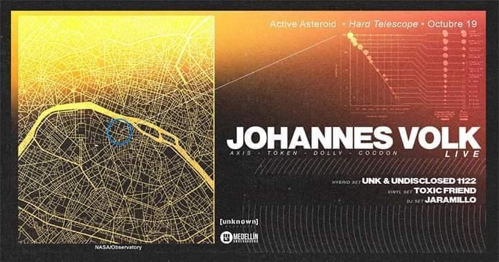 Johannes Volk (Live + Vinyl Set) Extended - Flyer front