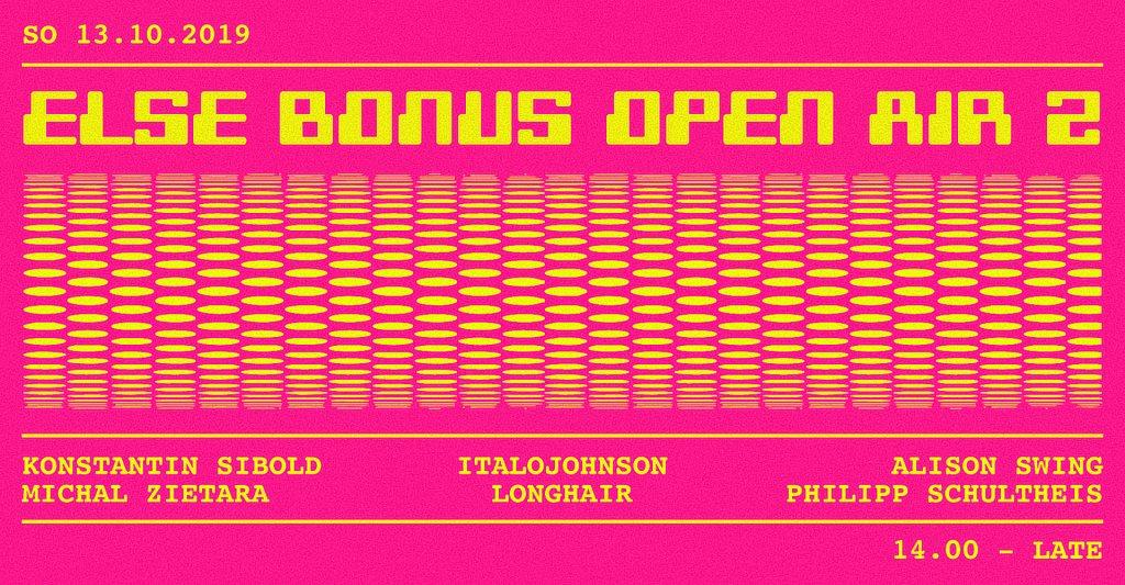 Else Bonus Open Air 2 w. Konstantin Sibold, ItaloJohnson & More - Flyer front