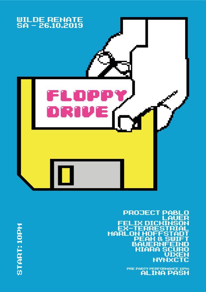 Floppy Drive w. Project Pablo, Lauer, Felix Dickinson & More - Flyer back