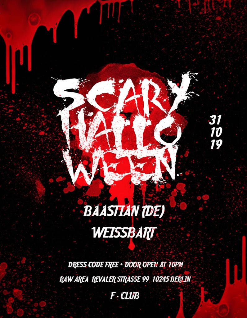 Scary Halloween - Flyer front