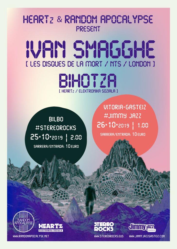 Heartz & Random Apocalypse present: Ivan Smagghe + Bihotza - Flyer front