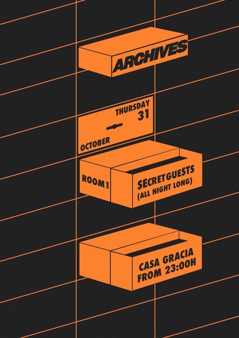 Archives Thursdays - Halloween Basement - Flyer front