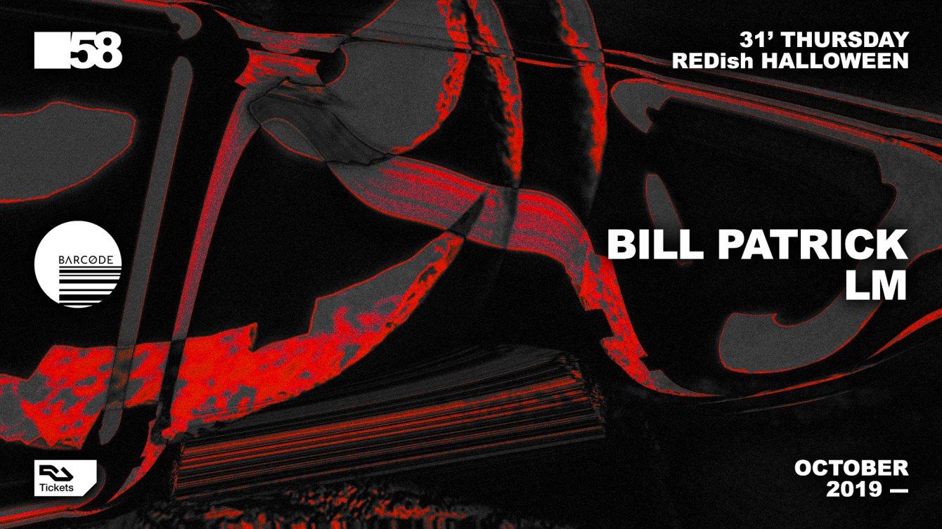 Redish Halloween: Bill Patrick / LM - Flyer front