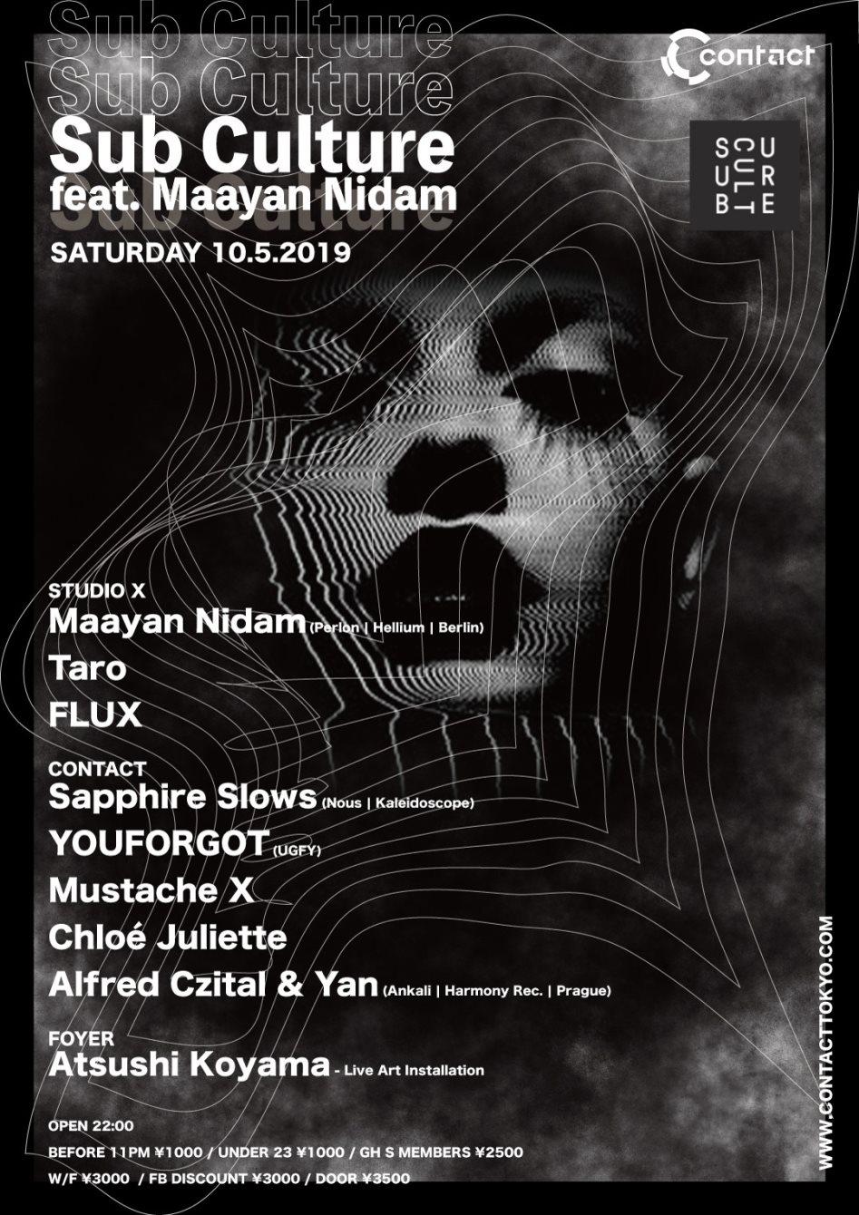 Sub Culture Feat. Maayan Nidam - Flyer front