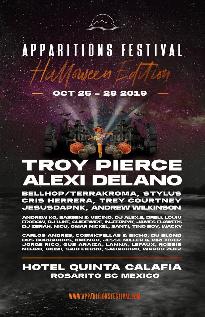 Apparitions Festival (Halloween Edition) - Flyer back