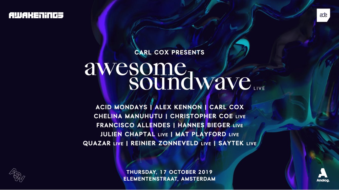 Carl Cox X Awesome Soundwave Live (Sold Out) - Flyer front