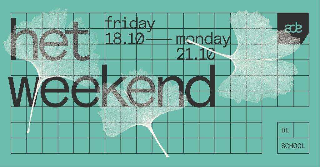 Het Weekend 18.10 – 21.10 - Flyer front