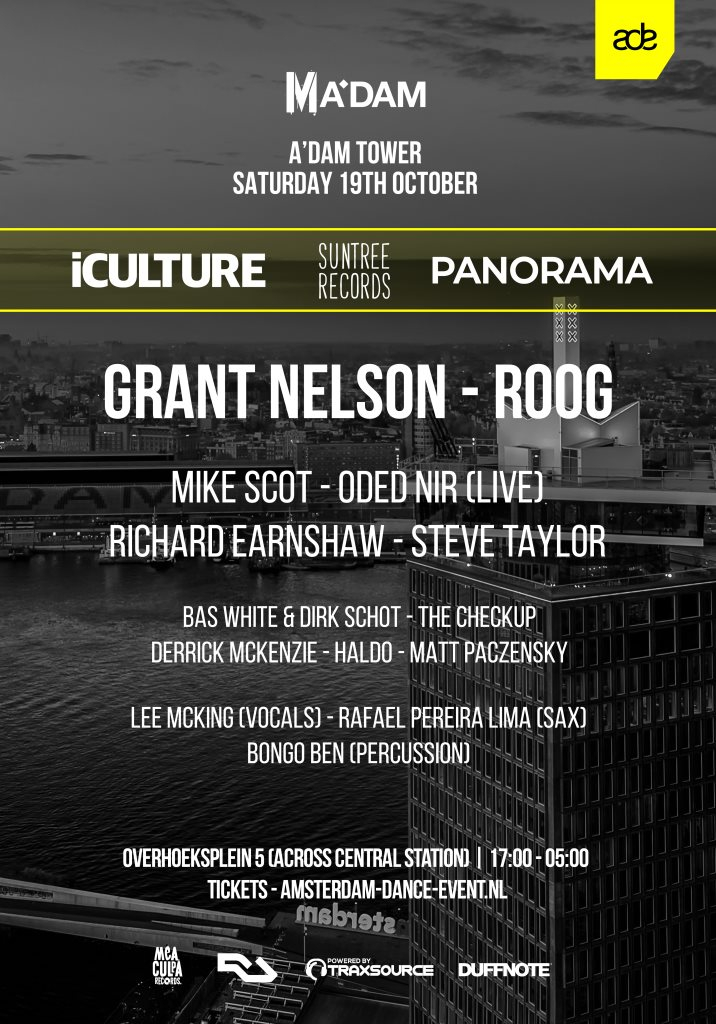 ADE 2019 - iCulture x Suntree Records x Panorama - Flyer back