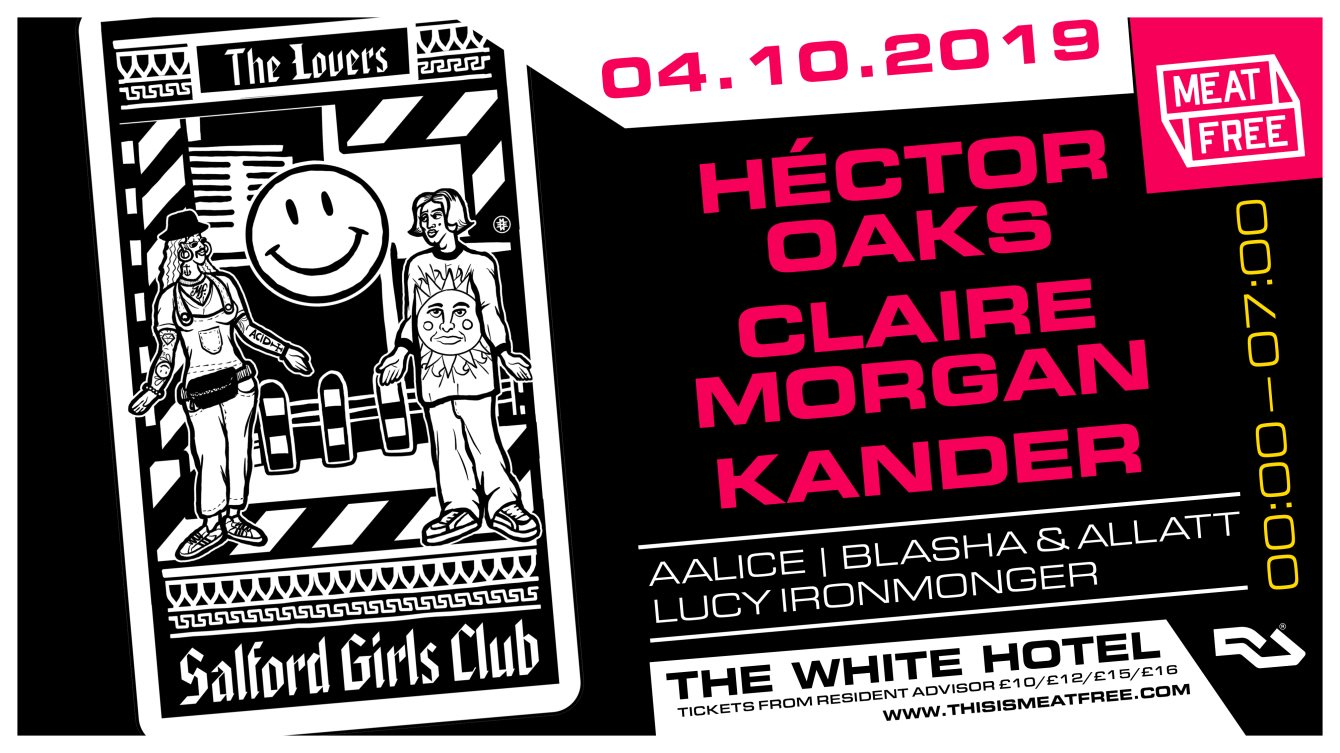 Meat Free with Héctor Oaks, Claire Morgan & Kander - Flyer front