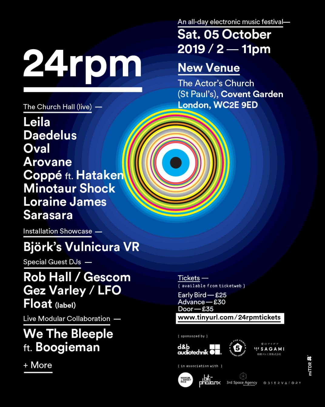 24rpm: An All-Day Electronic Music Festival - Flyer back