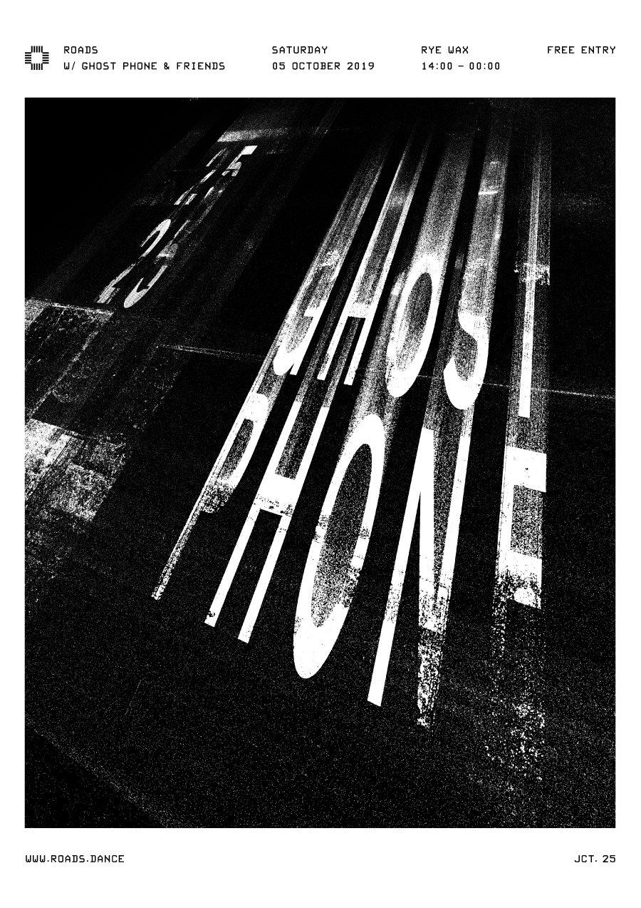 Roads 25: Ghost Phone & Friends - Flyer back