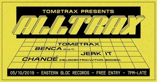 Tom2trax presents Alltrax - Flyer front