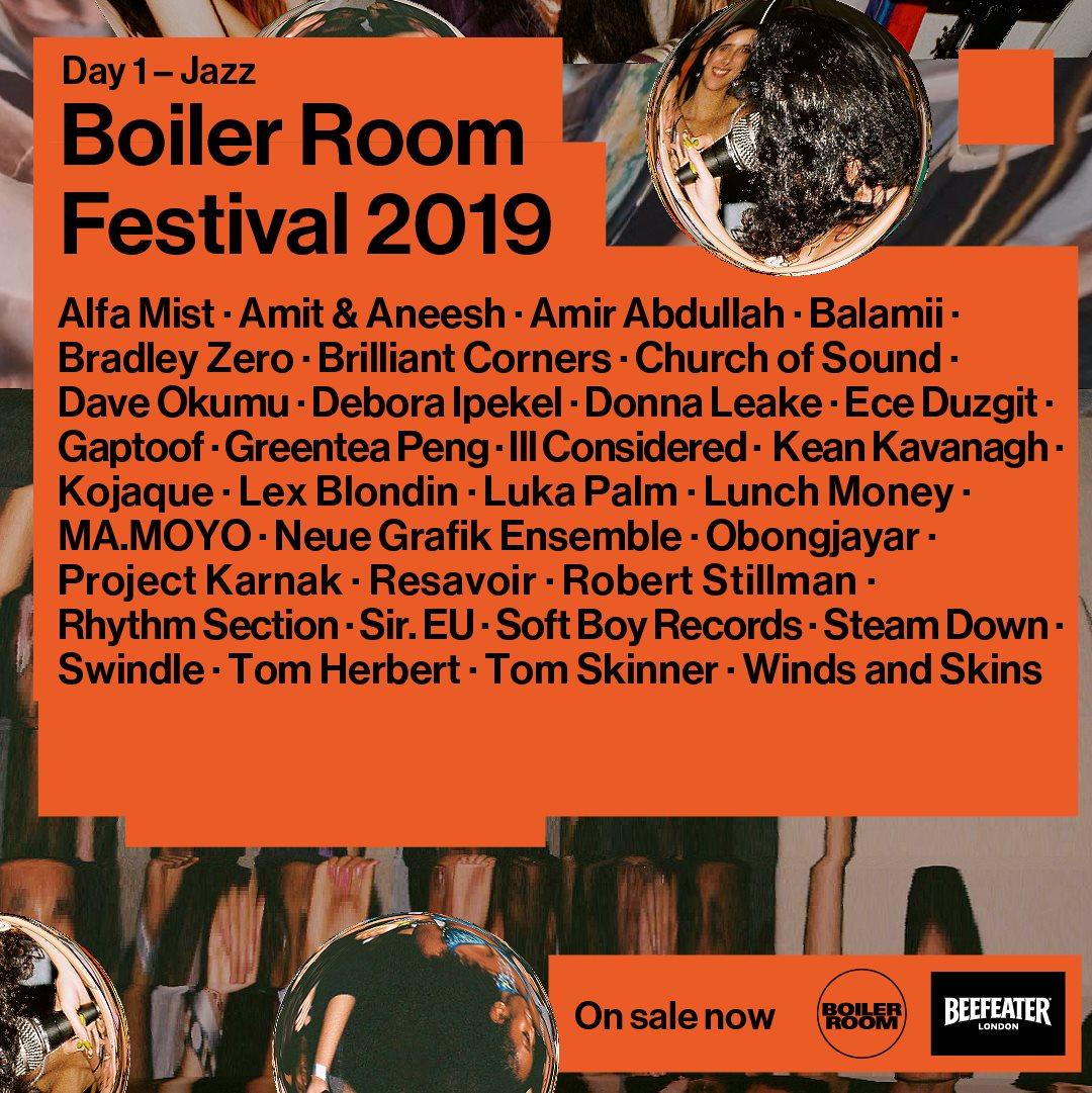 Boiler Room Festival Day 1: Jazz - Flyer front