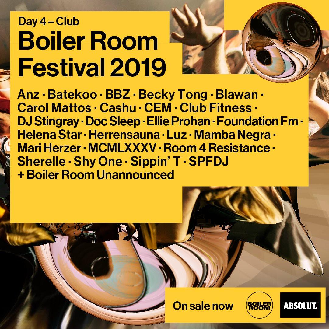 Boiler Room Festival Day 4: Club - Flyer front