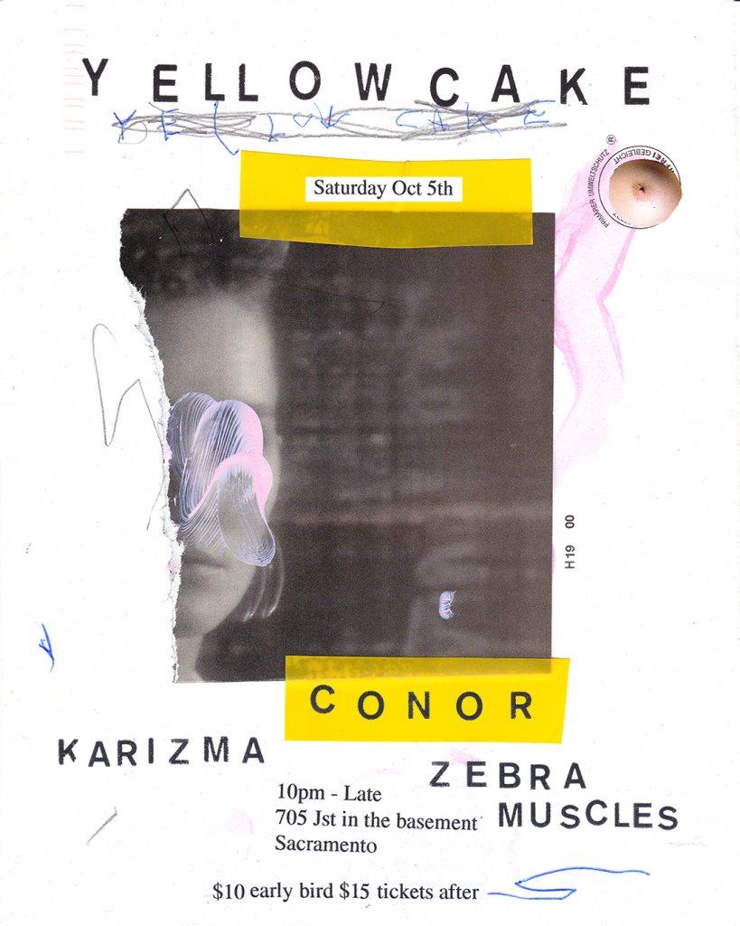 Yellowcake 10/5 FT Conor Karizma & Zebra Muscles (21+) - Flyer front