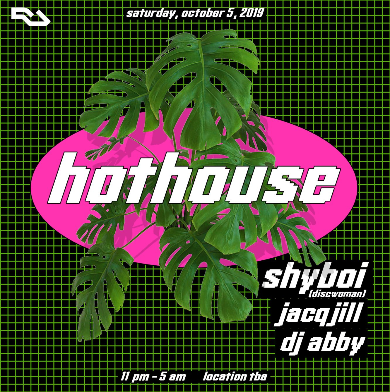 hothouse - Flyer front